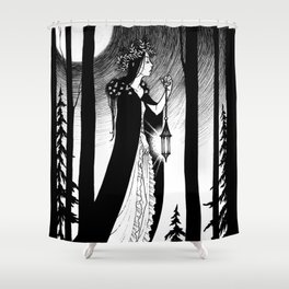 Into The Woods Shower Curtain