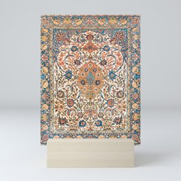 Isfahan Antique Central Persian Carpet Print Mini Art Print
