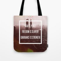 1984 Tote Bags featuring 1984 by Michael Dameron