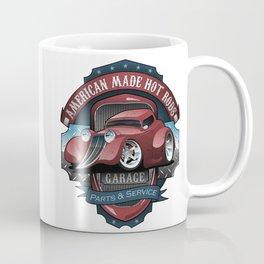 American Hot Rods Garage Vintage Car Sign Cartoon Coffee Mug