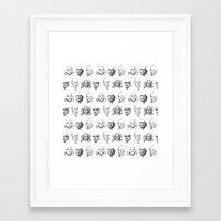 dexter Framed Art Prints featuring Dexter by Olechka