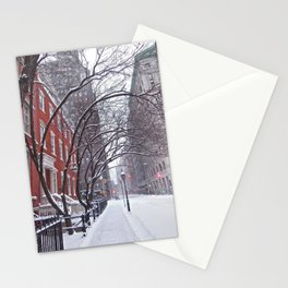 Snow Streets, Washington Square North Stationery Cards