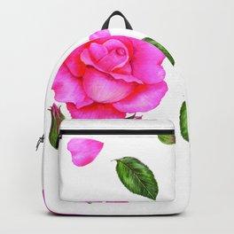 Shabby Chic Vintage Pink Rose Backpack