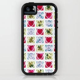 Peace Love & Irish Luck iPhone Case