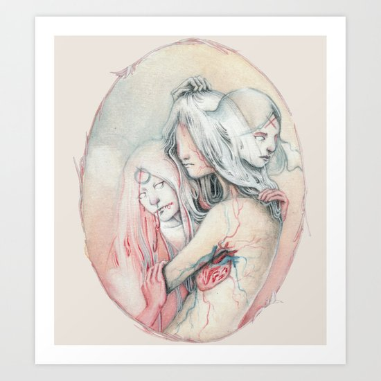 14/02 : Love is a hate and a lie Art Print