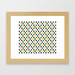 School Days Polka Dots Framed Art Print
