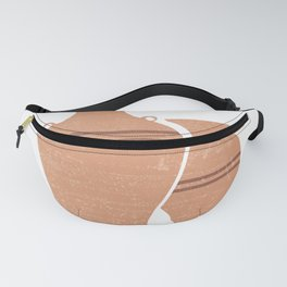 Greek Pottery 22 - Hydria - Terracotta Series - Modern, Contemporary, Minimal Abstract - Light Brown Fanny Pack
