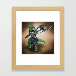 Barbarian Lizard Warrior Framed Art Print