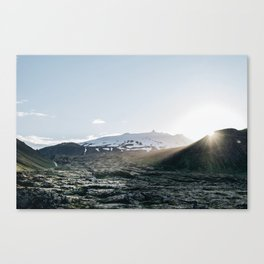 Sunset Over The Lava Fields Canvas Print