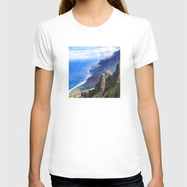 Hawaiian Coastal Cliffs: Aerial View From The Angels T-shirt