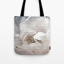 A tulip touching the stripes - Tulipa Angélique Tote Bag