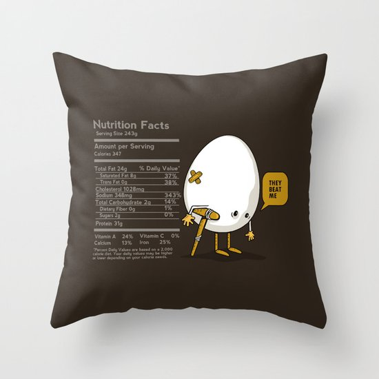 They Beat Me Throw Pillow