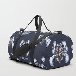 T.F TRAN BLUE SNAKE IRIS Duffle Bag