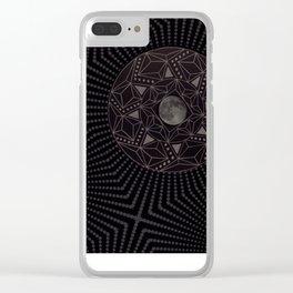 Moon Mandala Clear iPhone Case
