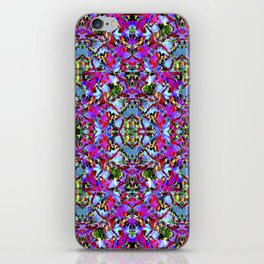 Multicolored Abstract Collage Pattern iPhone Skin