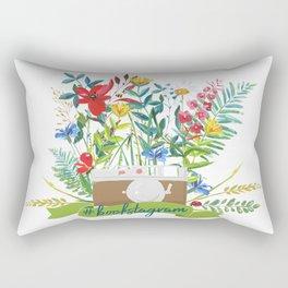 #bookstagram In Bloom Rectangular Pillow