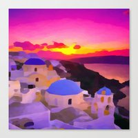 greece Canvas Prints featuring Greece  by Xchange Art Studio