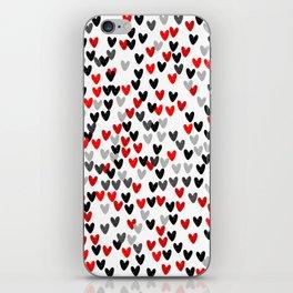 Cute Hearts iPhone Skin