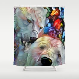 I'm Just Gonna Nibble on Your Ear Maybe a Little Bit... Shower Curtain