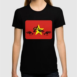 Vietnam Flag, Roosters Sparring T-shirt