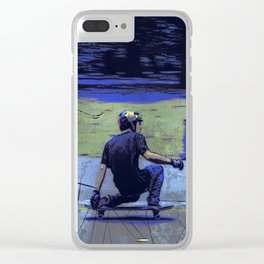 Just Cruisin'  - Skateboarder Clear iPhone Case