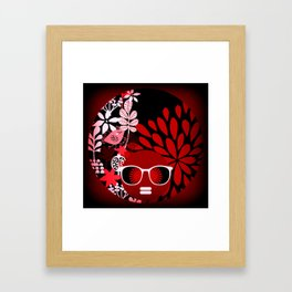 Afro Diva : Sophisticated Lady Red Framed Art Print
