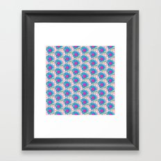 Blue Painted Flowers Framed Art Print