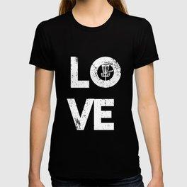 Love Disc Golf Lover Sport Golfer Valentine's Day T-shirt