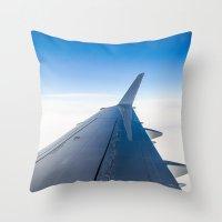 airplane Throw Pillows featuring Airplane by Fernando Derkoski