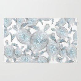 Silver Turtles Pattern Rug
