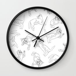 Cats in Space Wall Clock