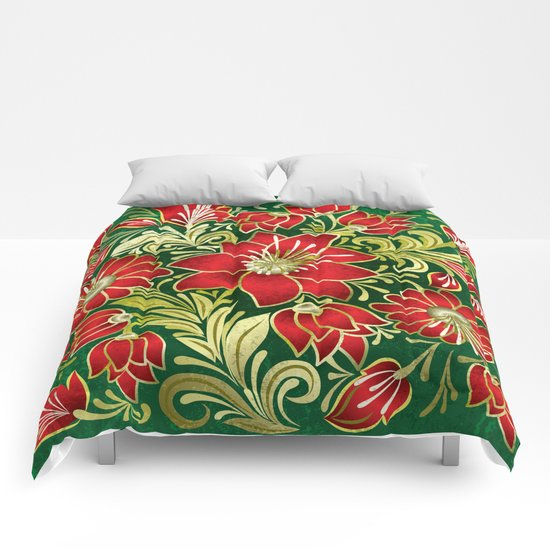 Shabby flowers #4 Comforters