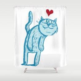 Luuuurv Cat Shower Curtain