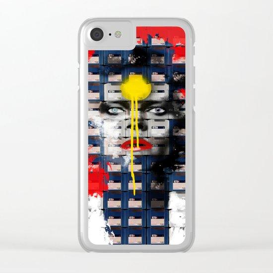 Diskette Portrait 1 Clear iPhone Case