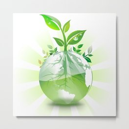 Green Earth Metal Print