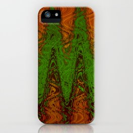 Waving Green iPhone Case