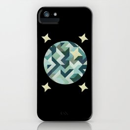 circle geometry (Black Background) iPhone Case