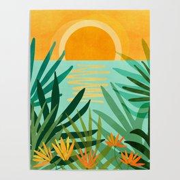 Peaceful Tropics / Sunset Landscape Poster