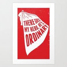 lyric Poster - My Hero Art Print