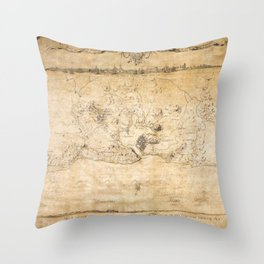 Plan of the Siege of the Havana Surrender (Aug. 12, 1762) Throw Pillow