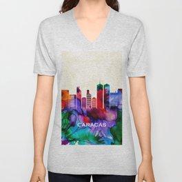 Caracas Skyline Unisex V-Neck