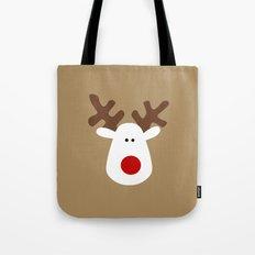 Christmas Reindeer-Brown Tote Bag
