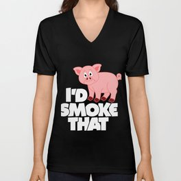 Meat Barbeque Grill Funny T-Shirt Unisex V-Neck