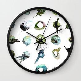 Splats and Blobs (Green) Wall Clock