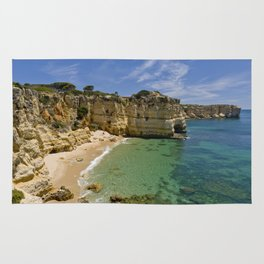 Small cove on the Algarve, Portugal Rug