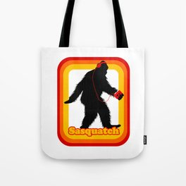 Retro Sasquatch Tote Bag