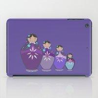 russian iPad Cases featuring RUSSIAN DOLLS by Monika Strigel