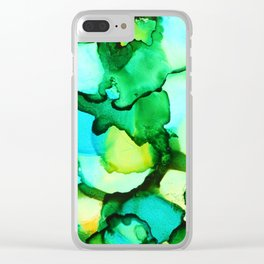 Blue & Green - should be seen Clear iPhone Case