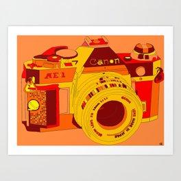 Canon Rebel Camera - Retro Art Print