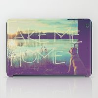 home sweet home iPad Cases featuring HOME by Monika Strigel